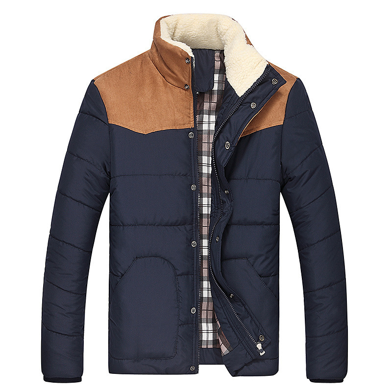 ФОТО M - 3XL Winter Brand Down Jacket Men New men's stand collar thick Warm Loose Jackets Autumn coat men long sleeve jacket for tops