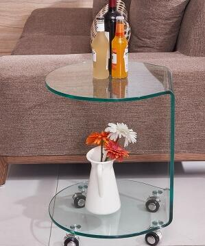 Small tea table . bending glass table