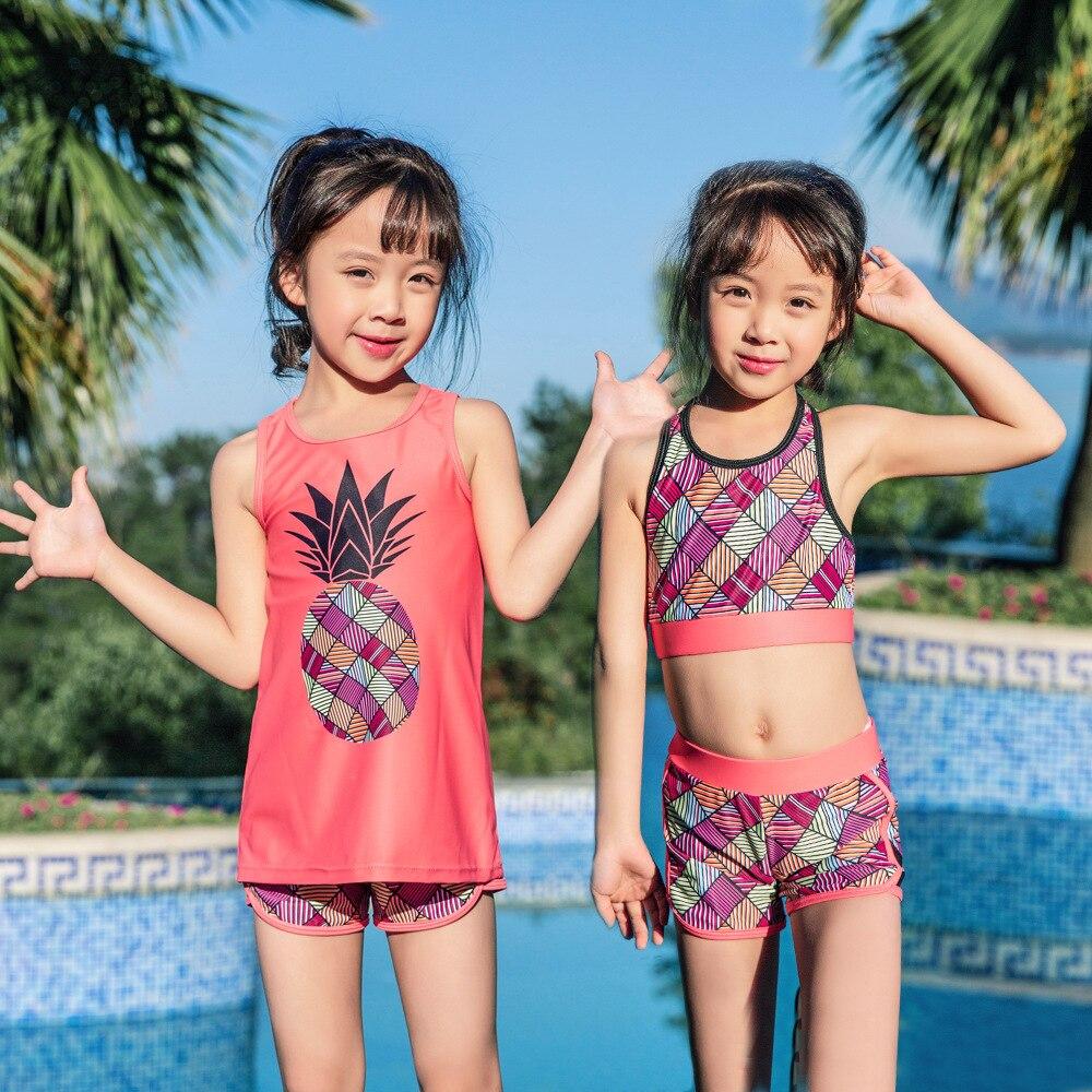 Children's Swimsuit Kids Girls 2019 Swimwear Baby Bikini For Child Girl 2019 Children Female Leisure Sports Flowers Animal