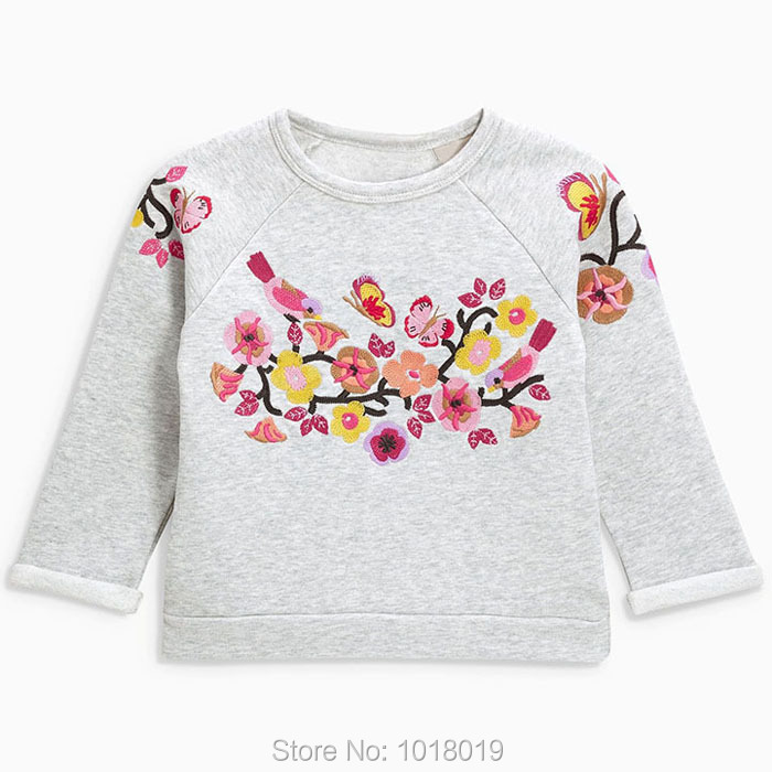 цены Quality 100% Terry Cotton Sweater New 2018 Brand Baby Girl Clothes Long Sleeve Children Clothing Bebe Kids t shirt Hoodies Girls