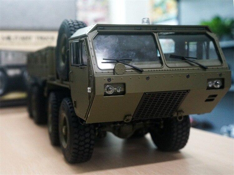 Charge 10Kg 1:12 Simulation militaire carte modèle 8 roues motrices militaire carte remorquage modèle RC télécommande véhicule jouets pour adolescents - 4