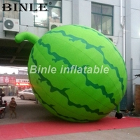 Custom popular outdoor artificial 5m giant inflatable watermelon model inflatable fruit for promotion