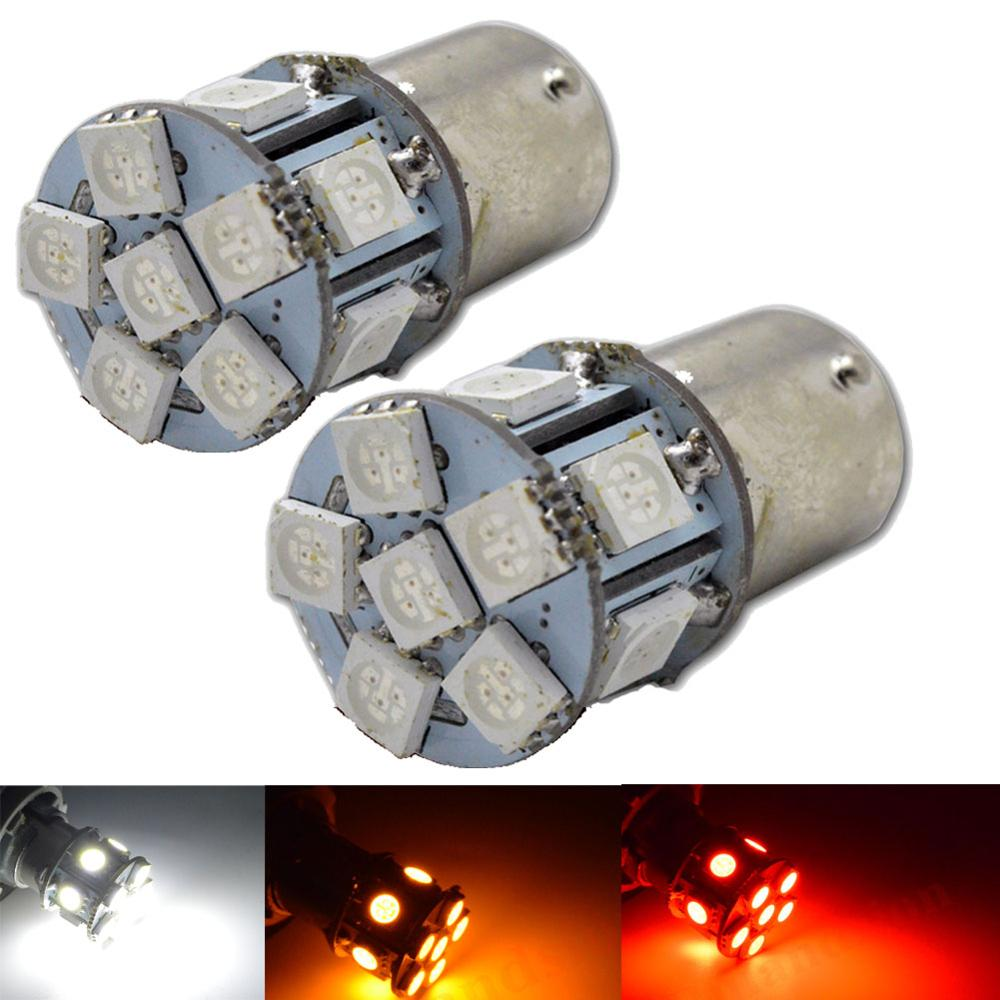 Pair 1156 5050 BA15S LED Bulb P21W 12SMD Red Car Lamp Automotive Bulb 6V Motorcycle bike Auto Light image