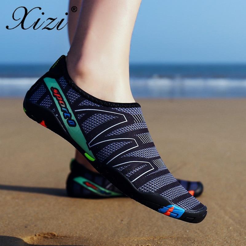 44a3302b61a41 Xizi gris Sandalias rose Aqua Pour Parc Slip Mujer rose Chaussure amoureux  D été Sur Pantoufles Chaussures ...