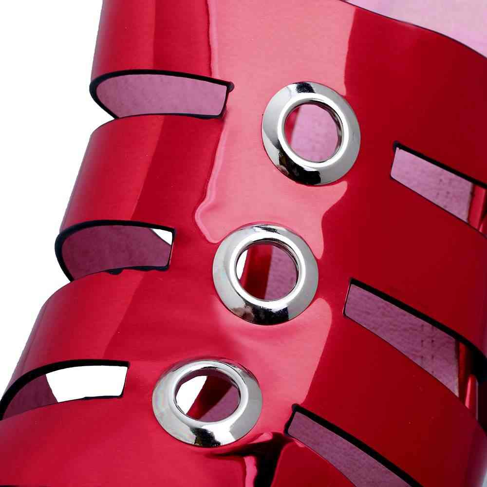 2018 mode peep toe slingback plattform schuhe super hohe frauen sandalen strass nachtclub sandalen casual nieten strand schuhe L48