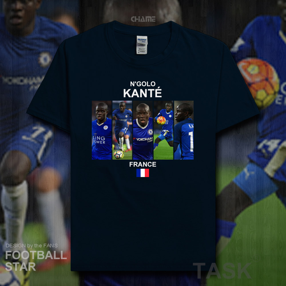 buy online 417ab 95d7c US $5.99  N'Golo Kante t shirt 2018 jerseys French footballer tshirt 100%  cotton fitness t shirt streetwear clothes casual summer tees 20-in T-Shirts  ...