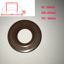 2 PCS TC 30 x 47 x 10mm VITON Oil Grease Seal FKM Rubber Double Lip With Garter Spring