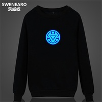 SWENEARO Glow In The Dark Hoodies Men Harajuku Ironman Sweatshirt Men Streetwear Clothes Funny Assassin Creed