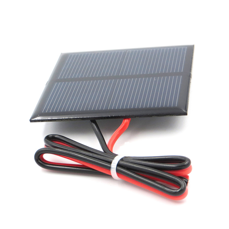 Fansaco 1V500mA Portable Solar Panel Polycrystalline Silicon DIY Battery Sunpower Panel Power System Mini Solar Cell With Cable