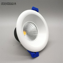 12pcs Dimmable 9w 15w 20w COB Recessed LED Down Light Indoor Ceiling Lamp Lighting Home Aluminum Spot Light 85~265V/AC