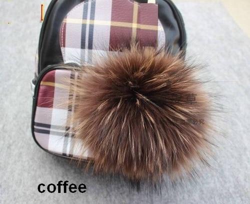 15pcs / lot Көтерме бағасы Real Raccoon Fur Ball 14cm - Киімге арналған аксессуарлар - фото 4