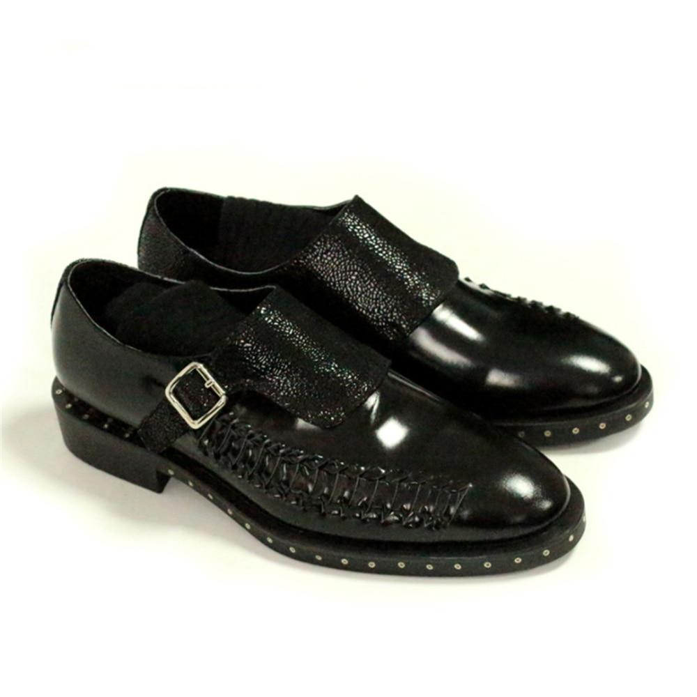 Hombre Espirales Vise Oxford Vestir A Hombres Zapatos Cuero De Superior Negro Mano Hechos Para Compilado wvpI0Xq