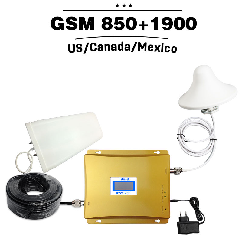 2G 3G GSM 850 PCS 1900 Dual Band Repeater 65dB 3G UMTS 850mhz 4G - Ανταλλακτικά και αξεσουάρ κινητών τηλεφώνων - Φωτογραφία 1