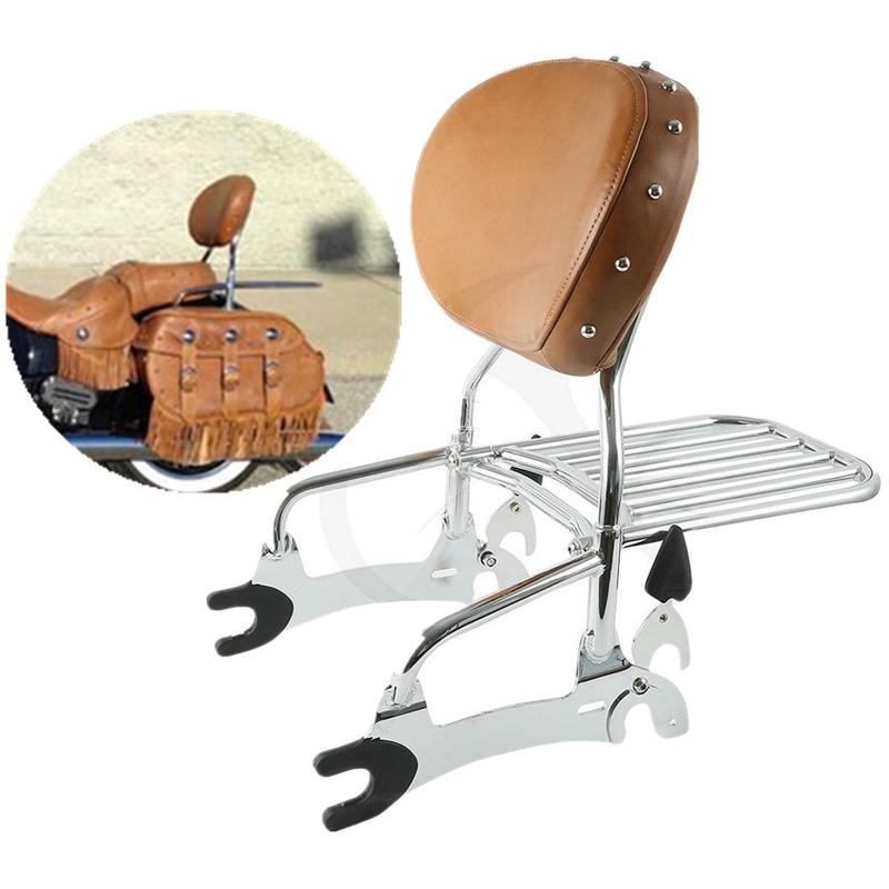 Motorcycle 12 Backrest Sissy Bar with Luggage Rack For Indian Chief Classic Vintage 14 15 16