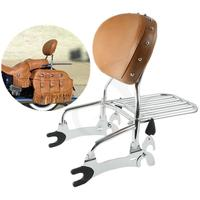 Motorcycle 12 Backrest Sissy Bar with Luggage Rack For Indian Chief Classic Vintage 14 15 16 17 18 Dark Horse 16 18