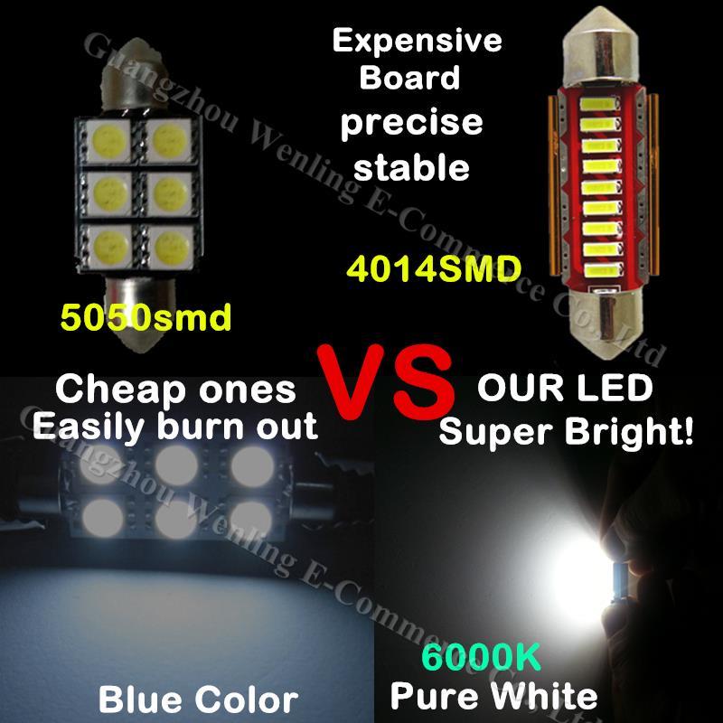 MG 4 SMD Festoon Canbus 42mm SV8 5 C10W LED interior Car Bulbs WHITE