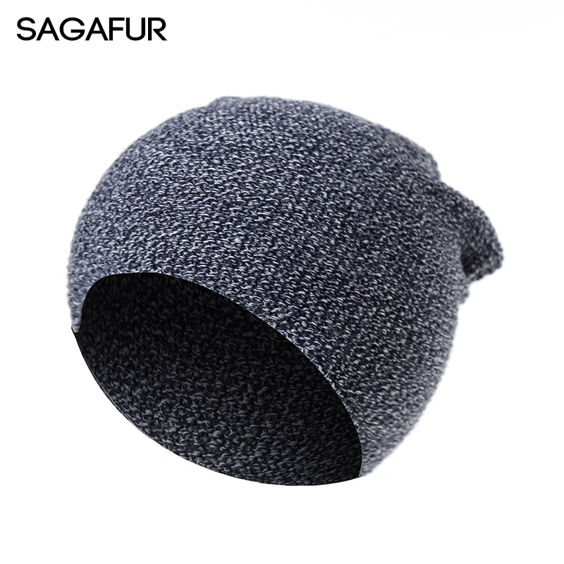 SAGAFUR  Hat Female Autumn Men Women  Knitted Fashion New 2017 Autumn Winter Hot Sale Cap Women's Hats Skullies Beanies  #CAP006 skullies hot sale female tide leather braids knitted cap autumn and winter women s curling ear warmers headgear 1866784