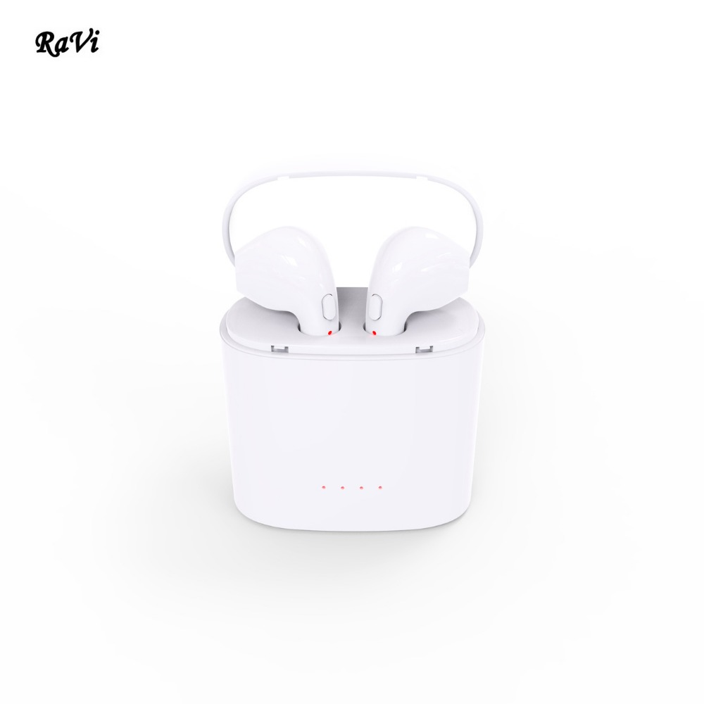 RAVI Wireless Bluetooth Earphone Double Earphones TWS Mini Portable Headphone Bluetooth Earbuds For apple headset iPhone Andorid portable waterproof earphone storage box drop resistance protective case for headphone mp3 player headset amp earplugs earbuds