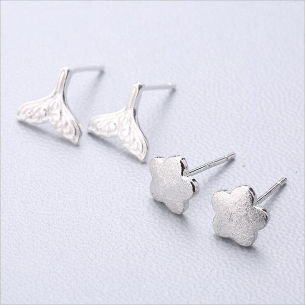 XIYANIKE Fashion Geometry Earring Hot Sale 925 Sterling Silver Cute Stud Earrings Ear Needle Simple Personality For Women 91-108