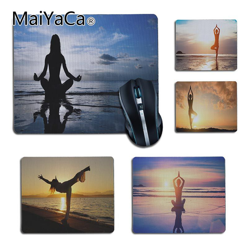 MaiYaCa Personalized Cool Fashion skeleton yoga small Gaming MousePads for Dota2 Player gaming mouse pad