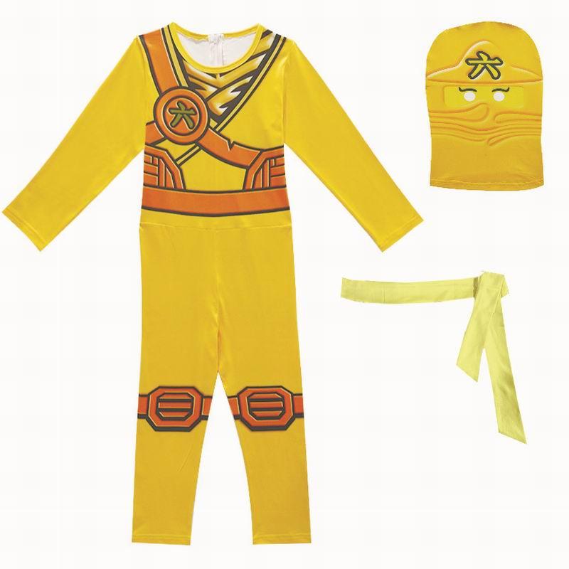 Ninjago Cosplay Costume Boys Jumpsuits Legoo Ninja Costumes Halloween Christmas Fancy Party Dress Girls Streetwear Ninja Cosplay
