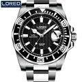 Relojes LOREO para hombre marca superior de lujo 316L acero automático reloj mecánico para hombres Diver relojes 200M reloj luminoso resistente al agua