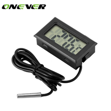 Digital-Thermometer Auto LCD Onever with Waterproof Probe Sensor-50--110c for Home-Fish-Tank