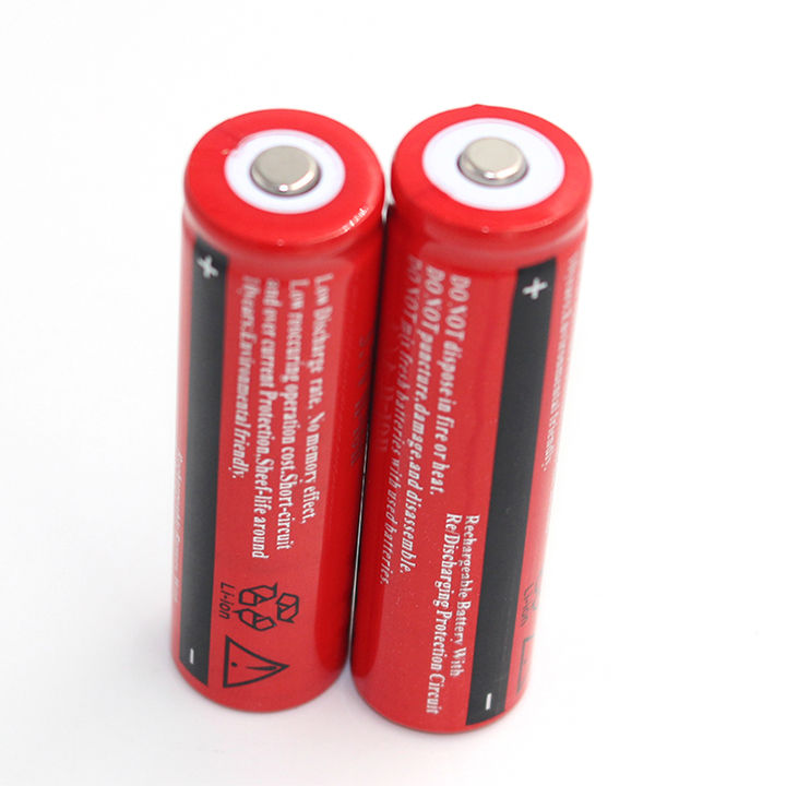 2 pcs Original 18650 battery 3.7V rechargeable battery batteries for led flashlight headlight 2 pcs led flashlight