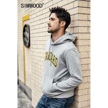 SIMWOOD 2019 sonbahar yeni Hoodies erkekler moda Hip Hop tişörtü mektup baskı Streetwear yüksek kalite marka giyim 190171