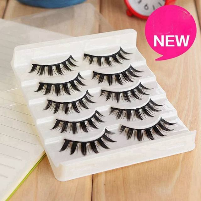 Online Shop 5 Pairs Women Japanese Serious Makeup False Eyelashes