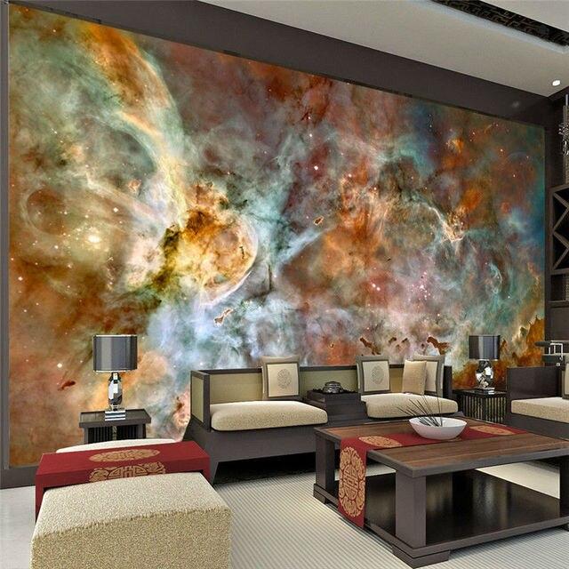 Charming Galaxy Wallpaper Nebula Photo wallpaper 3D Silk Wall Mural Poster Large Wall Art Room decor & Charming Galaxy Wallpaper Nebula Photo wallpaper 3D Silk Wall Mural ...