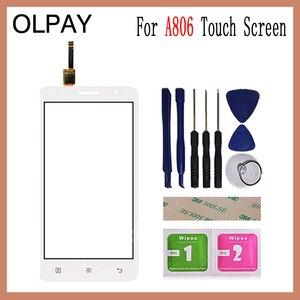 Image 3 - 5.0 for for para Lenovo A806 A806T A808 A8 Capacitive touch screen digitador painel de vidro ferramentas esparadrapo livre e toalhetes