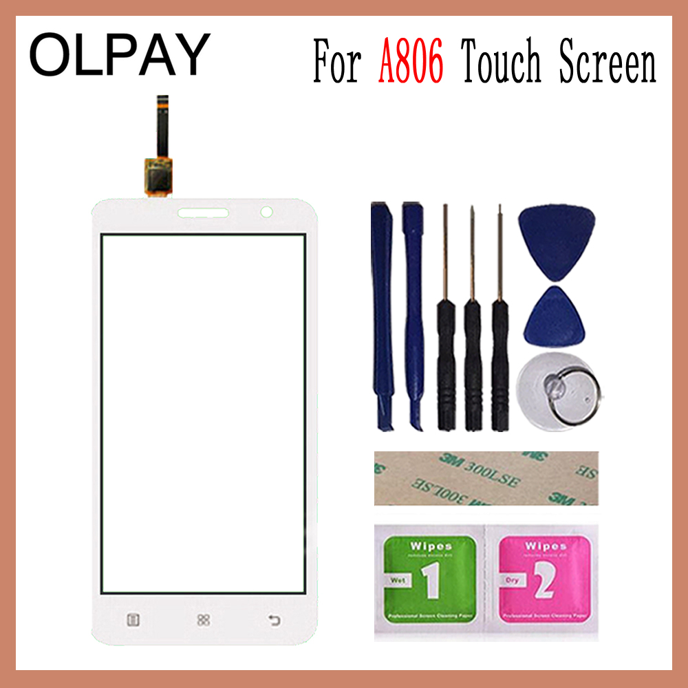 Image 3 - OLPAY 5.0'' For Lenovo A806 A806T A808 A8 Capacitive Touch Screen Touch Digitizer Panel Glass Tools Free Adhesive And Wipes-in Mobile Phone Touch Panel from Cellphones & Telecommunications