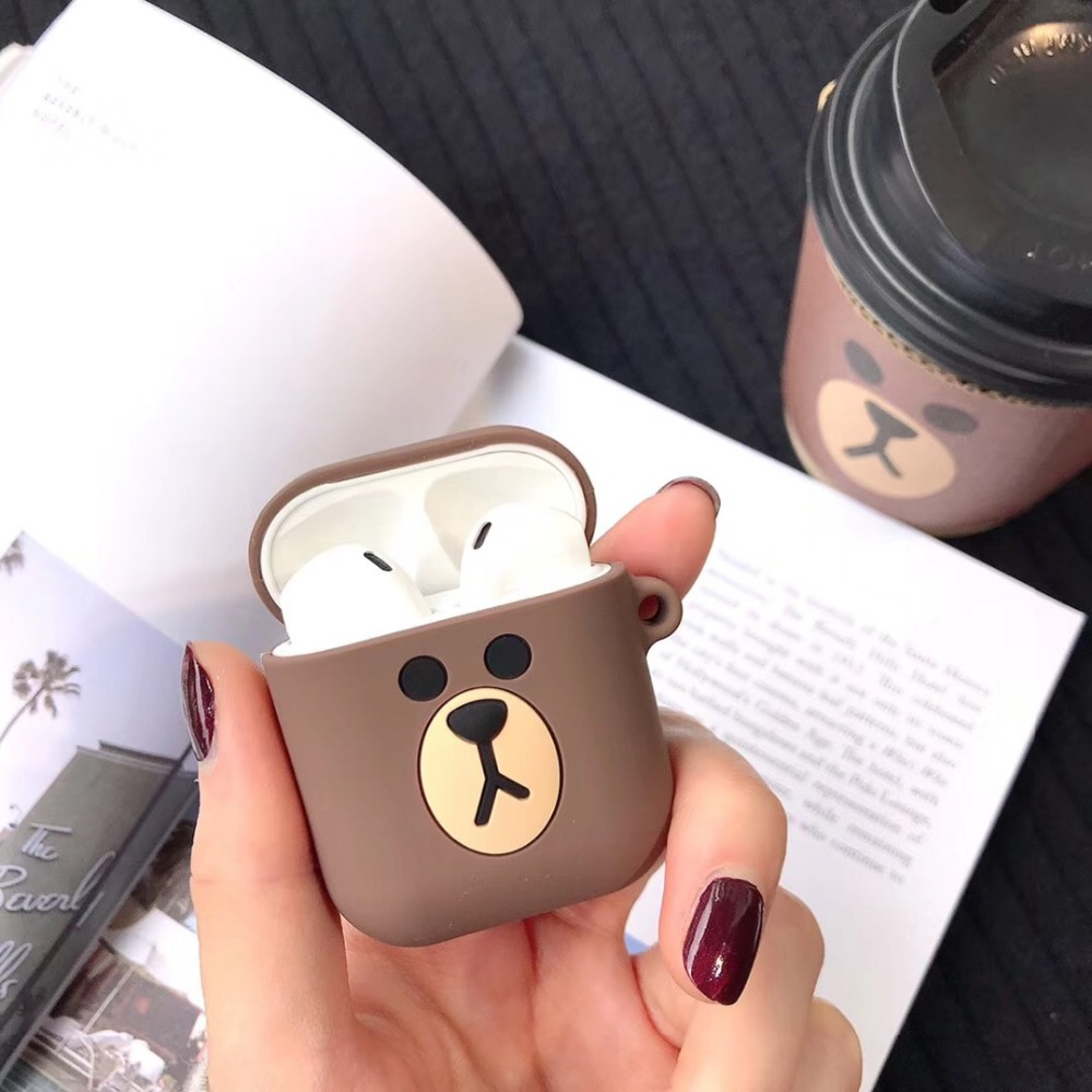 Image 5 - Cartoon Wireless Bluetooth Earphone Case For Apple AirPods Silicone Charging Headphones Cases For Airpods Protective Cover-in Earphone Accessories from Consumer Electronics