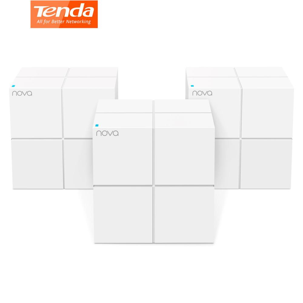 Tenda Whole Home Mesh WiFi System Dual Band Gigabit AC1200 Wireless Router Replacement for 6000sq ft