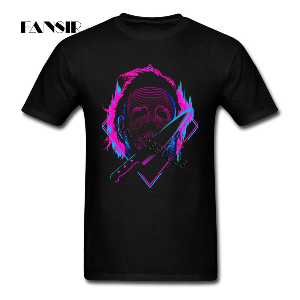 Over Size Michael Myers 2017 New Arrival Tshirts Men Mans White Short Sleeve Custom Men T Shirts Teenage Clothes
