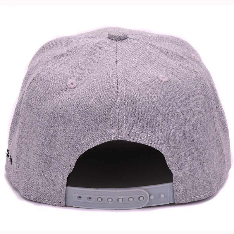 dea74c7aaf3fb ... De alta calidad de lana gris snapback 3D perforado bordado de hip hop  gorra plana de