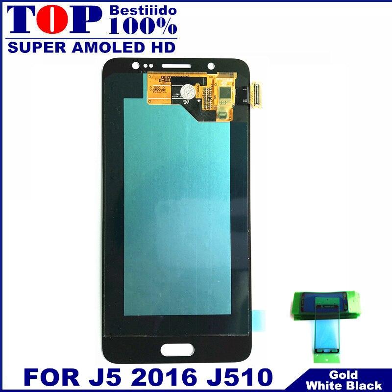 imágenes para 100% Probado LCD AMOLED para Samsung Galaxy J5 2016 J510 J510F J510FN J510M J510Y J510G Pantalla Táctil Digitalizador Asamblea
