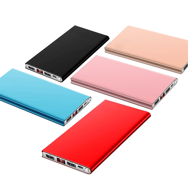 New Portable Ultra-thin Polymer 20000mAh Power Bank Poverbank Dual USB Ports External Battery Charger for Mobile Phones Tablets 4