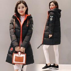 Parka kobiety 2019 kurtka zimowa kobiety płaszcz z kapturem znosić kobiet Parka gruba bawełna wyściełane podszewka zima kobiet podstawowe płaszcze Z30 3