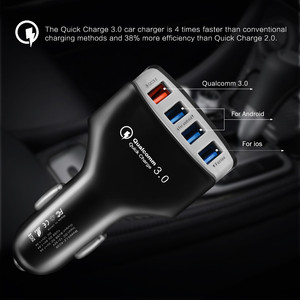 Image 4 - QC3.0 Car Charger Quick Charge 3.0 Fast Charger 4 Port Car USB Charger Adapter Universal Fast Charging for iPhone Samsung Xiaomi