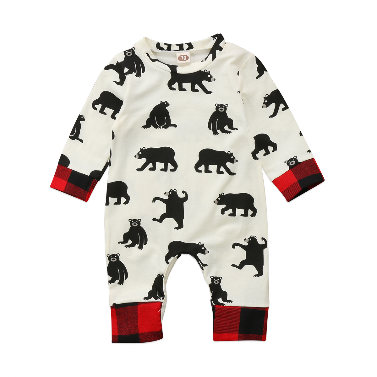 Pudcoco Christmas Baby Girls Boys Romper Animal Style Cartoon Bear Infant Rompers Jumpsuit Cotton Baby Newborn Clothes