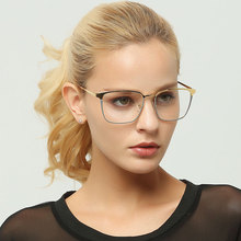 Myopic spectacle frame, golden transparent lens, female optical spectacles, high-grade