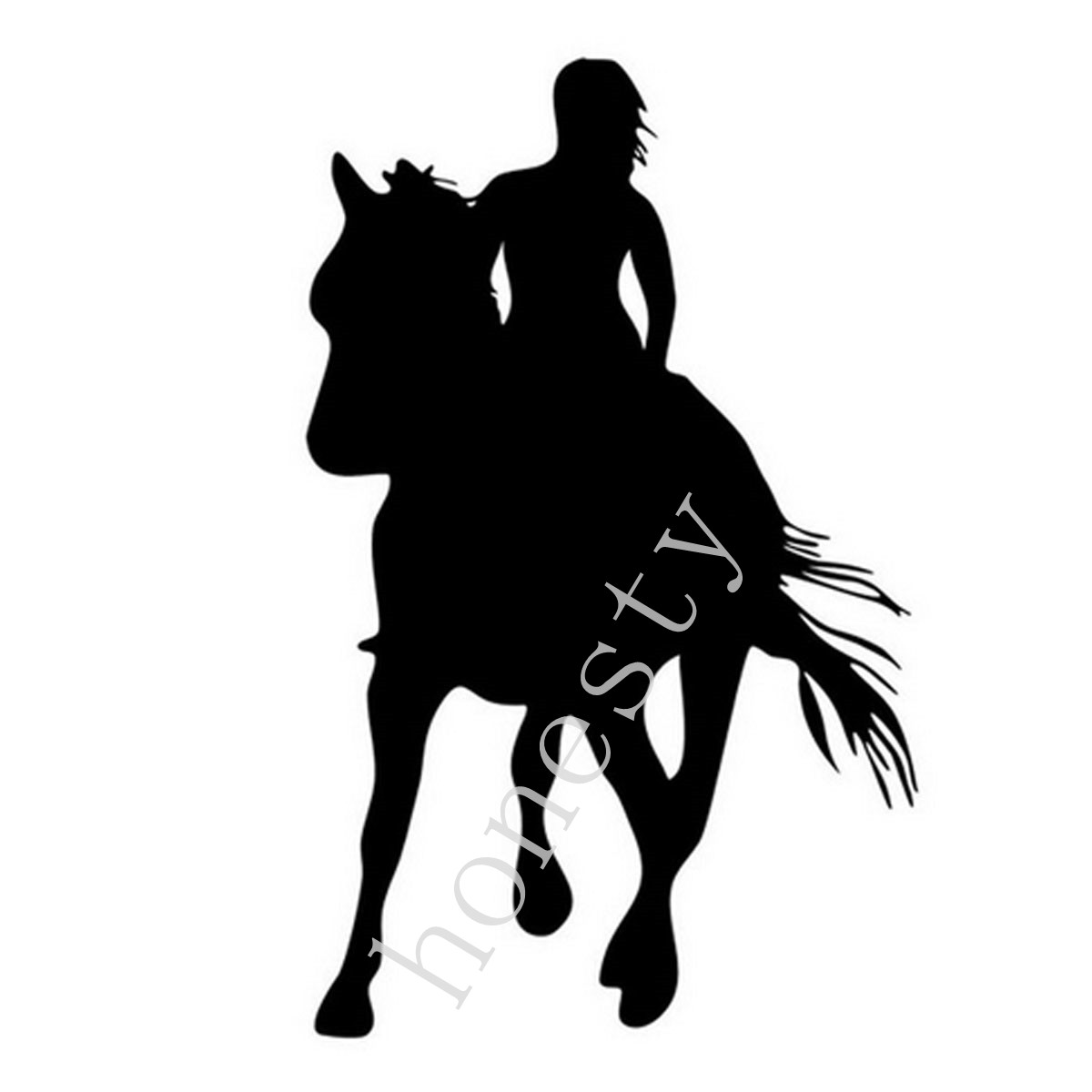 Girl Horse Riders Car Sticker Decals Horse Lovers Motorcycle Auto Body Decoration Stickers Decal
