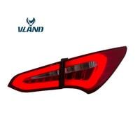 VLAND Led Tail Lights For Hyundai Santa Fe 2013 2015 Lens Rear Lamp Assembly Custom