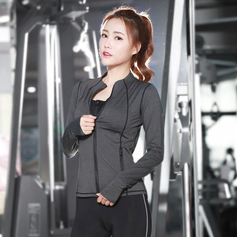 7e2bc745f66ba 3pcs 1sets Yoga Pants+Zip Sports Bra+Long sleeved Jacket