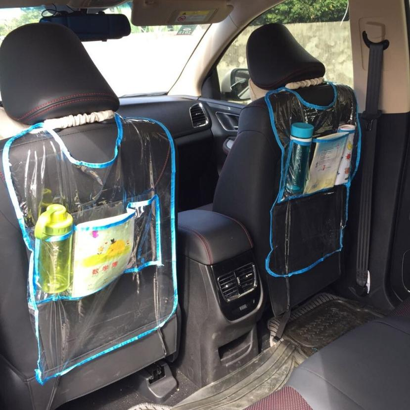 Car Auto Seat Back Protector Cover For Children Kick Mat Storage Bag July5 Drop Shipping