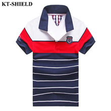High high quality Brand Men's Polo Shirt Striped Slim Fit Short Sleeve Camisa Polos Summer Turn-Down Collar Jerseys Polo Shirt Tops