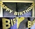 Золото Блестящие Блеск Баннер С Днем Рождения Баннер 1-й День Рождения Невесты для Свадьбы Душ Баннер Блеск Партия Фотография Фон