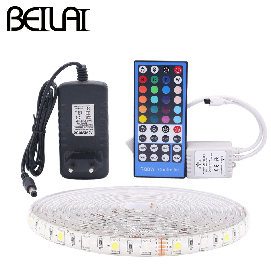 BEILAI 5050 RGB LED Strip Waterproof 5M 300LED DC 12V